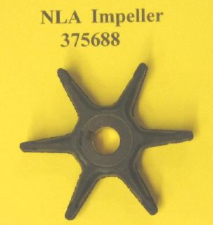 Purchase Water Pump Impeller 375688 Johnson Evinrude Gale Sea King Buccaneer Outboard motorcycle in Mundelein, Illinois, US, for US $29.88
