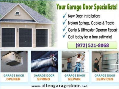 Immediately Garage Door Opener Installation Allen TX
