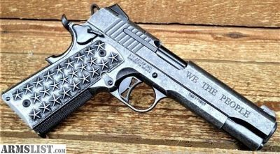 """For Sale: SIG 1911 .45ACP WE THE PEOPLE 5"""" 7-SHOT CUSTOM GRIPS"""