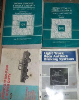 Buy 1991 Ford F-150 250 F250 350 Bronco Truck Service Shop Repair Manual Set 91 x motorcycle in Sterling Heights, Michigan, US, for US $274.98