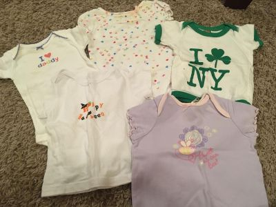6 Month Onesies and Shirts