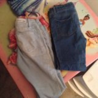 two pairs of size 7/8 girls jeans