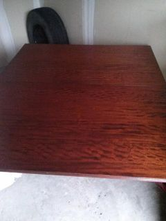 $550, Antique china hutch and duncan 500 dining table
