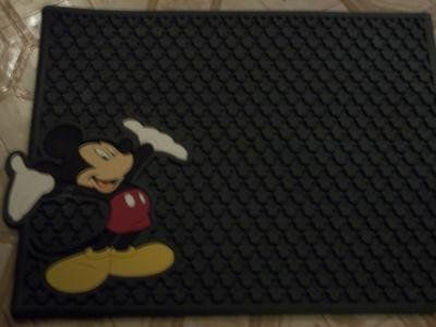 rp4 MICKEY MOUSE RUBBER MAT 16X 13 NEW