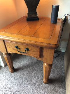 Set of two farmhouse end tables
