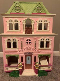 Fisher Price doll house with lots of accessories