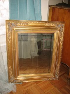 gold beveled french mirror