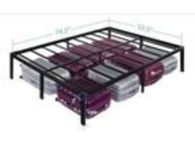 Olee Sleep 14 Inch T-3000 Heavy Duty Steel Slat Bed Frame