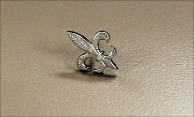 Collectible Vintage Fleur Flor de lis Silver Tone French New Orleans Tie Tack Pin New Orleans Lo...