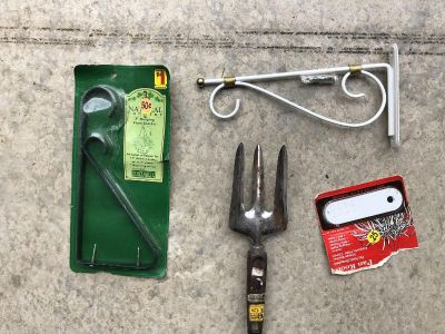 Outside Stuff: Garden Tool and Plant Hangers (See Description for prices)