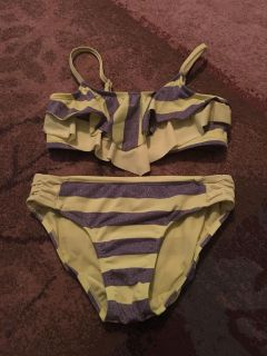Justice 12 lime green & silver bikini - ppu (near old chemstrand & 29) or PU @ the Marcus Pointe Thrift Store (on W street)