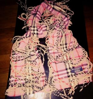 Burberry pink 100% cashmere scarf