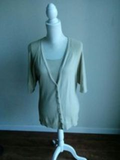 Two Piece Beige Shell/Sweater Set. XL