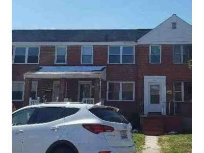 3 Bed 1 Bath Foreclosure Property in Baltimore, MD 21224 - Berkshire Rd
