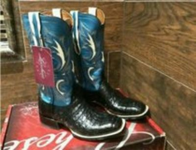 NEW LUCCHESE CAIMAN BELLY BOOTS