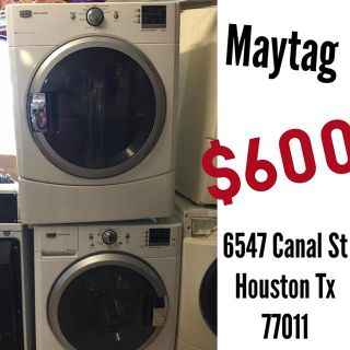 $600, Maytag Electric Frontload Set
