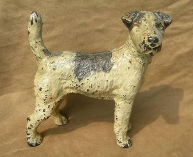 Antique Cast Iron Hubley Fox Terrier
