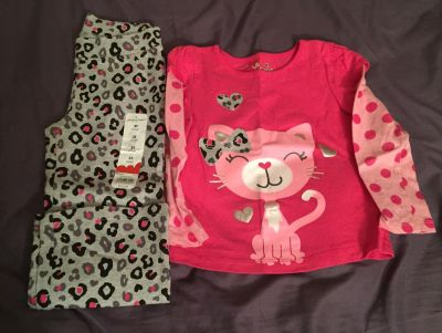 Girls 3t jumpin beans outfit, $5. Shirt worn once pants brand new. Located in Bethlehem. Cross posted.