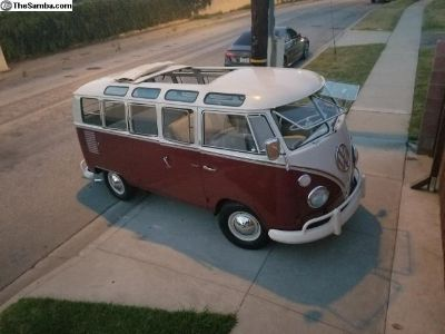 1966 VW Deluxe Bus Sunroof 21 Window