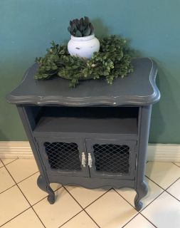 Farmhouse style end table or nightstand