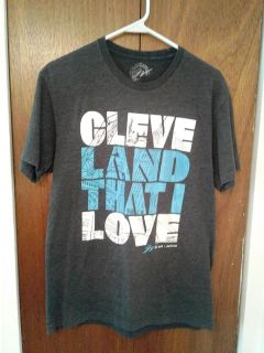 Cleveland That I Love Grey Tee Shirt Size M