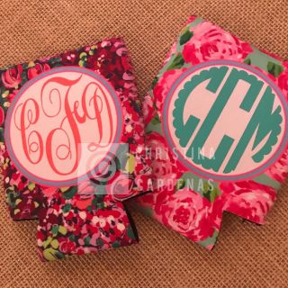 Custom Lily Pulitzer inspired can cozies!