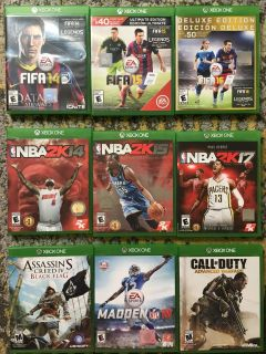 9 XBOX One games!!