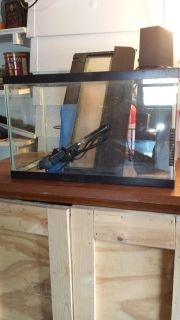 10 gallon fish tank , comes with lid , light , heater.