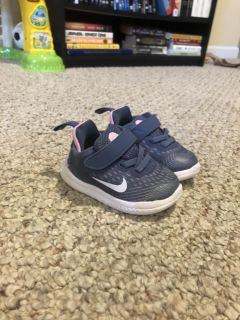 Size 4C baby/toddler Nike s - pink and gray