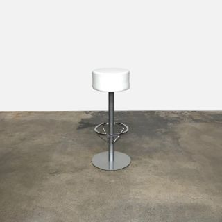 White Leather Bar Stools (3 Available)