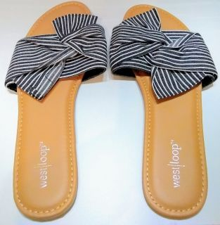 Size 8-9 Decorative Flip Flops - Brand New