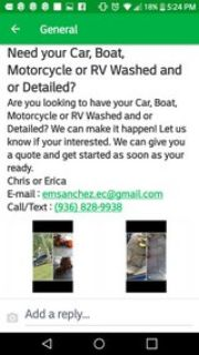 Need your Car, RV, Motorcycle or Boat detailed?