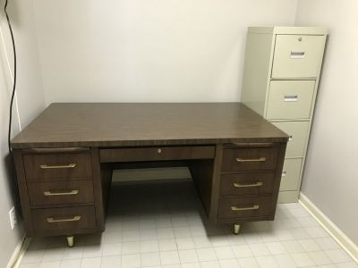 G&C Desk and Filing Cabinet