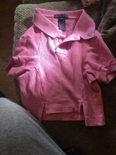 Ralph Lauren polo dog shirt size large but meant for a smaller dog