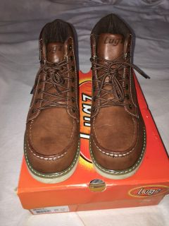 Lugz Roamer Hi in Dark Brown/Gum/Cream colors. Wore in house for maybe few hours. Size 11.5