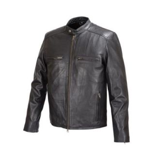 Men Moto Style Leather Jacket