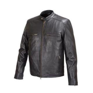 Men Moto Style Leather Jacket