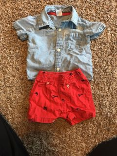 Carters 3 mo shorts outfit
