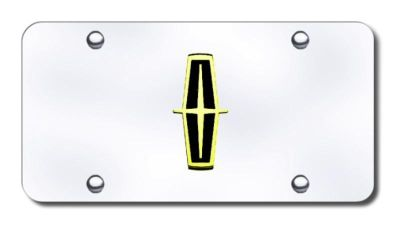Purchase Ford Lincoln Logo (Black) Gold/Chrome License Plate Made in USA Genuine motorcycle in San Tan Valley, Arizona, US, for US $35.13