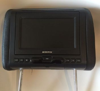 """Sell Audiovox AVXMTGHR1D 7"""" LED Headrest Monitor W/ DVD Player Interchangeable Cover motorcycle in Miami, Florida, United States, for US $200.00"""
