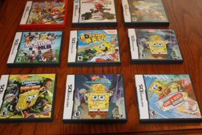 Nine (9) Nintendo DS Games Cases and Instruction Only