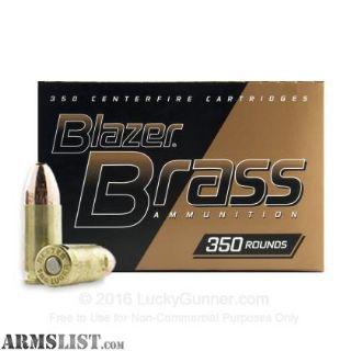 For Sale: 9mm CCI Blazer Brass 350 Rd Box ***Blowout Sale***