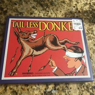 Pin The TailOn The Donkey Game New In Box FUN FOR ALL! Kids and/or Family Fun!