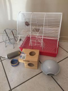Two Storey Hamster Cage + Accessories