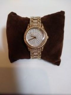 Details about Ladies Relic ZR11847 Silvertone and Crystal Gemstone Watch Working Battery