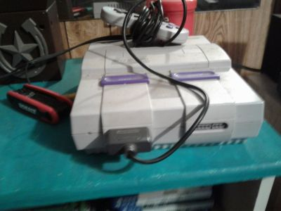 super Nintendo entertainment system with 40 games