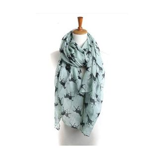 NEW Teal Horse Scarf