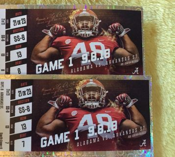 2 tickets to Alabama be Arkansas State
