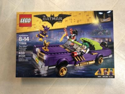 New in box: LEGO the Batman Movie set, 70906, the Joker Notorious Lowrider, includes 433 pieces and 3 figures, retails for $50-60
