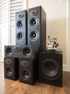 Complete 5.1 Channel Surround Sound Home Theater Speakers